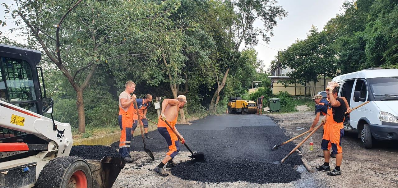 В Туапсе ремонтируют улицу Парковую