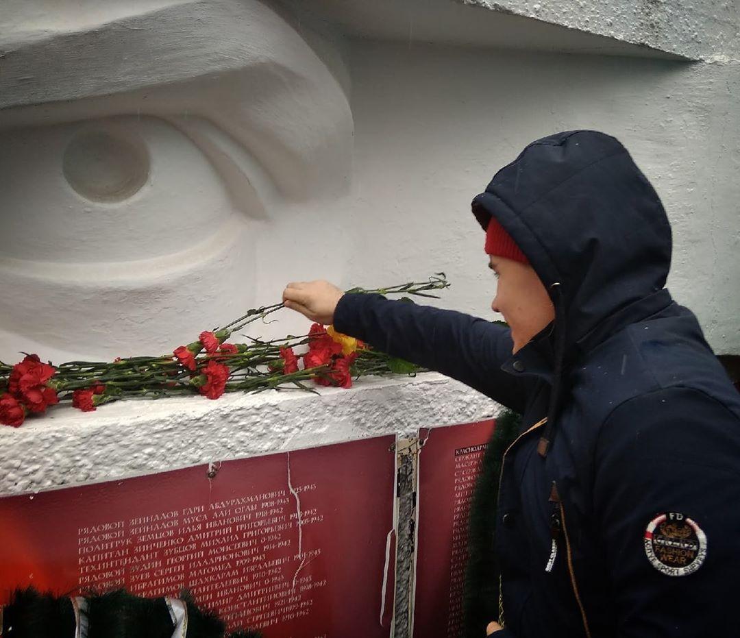 Митинг на Горке Героев в честь открытия краевого месячника военно-патриотической работы