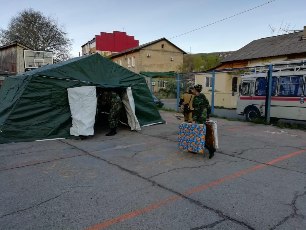 В Туапсе службы ГО и ЧС отрабатывают действия в период паводков и пожароопасный сезон