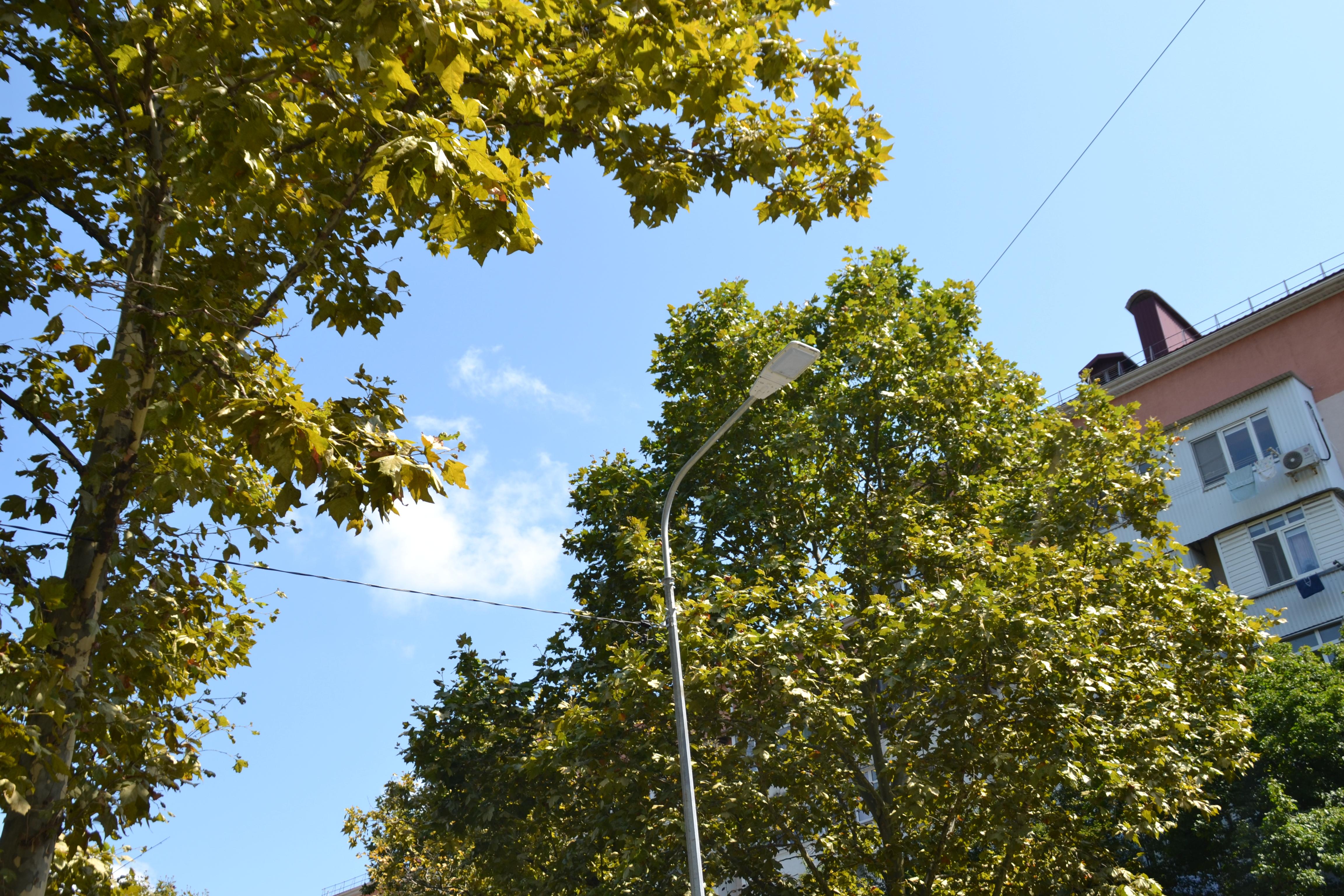 В Туапсе ведутся работы по развитию сети уличного освещения