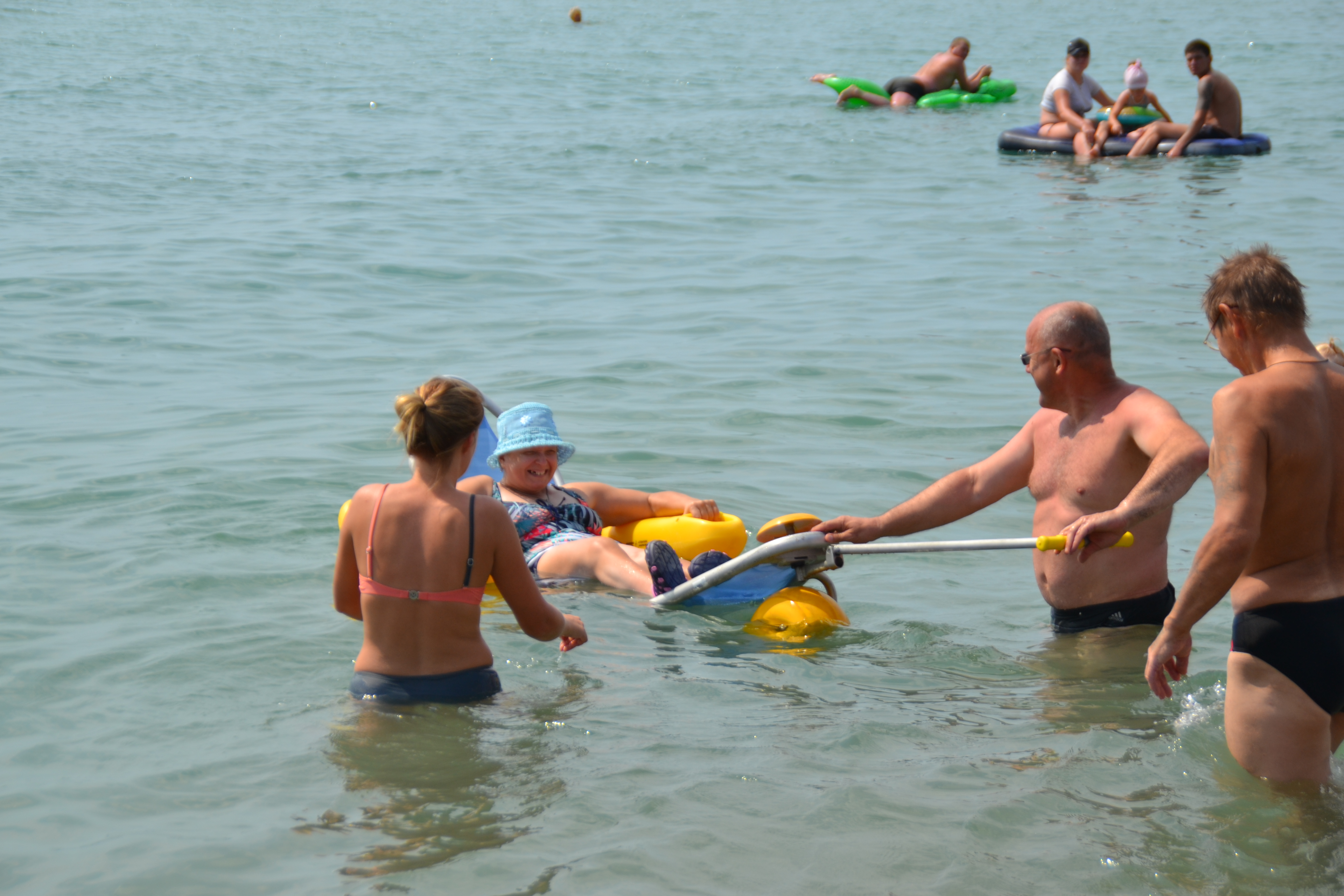 Доступный пляж для людей с особыми потребностями