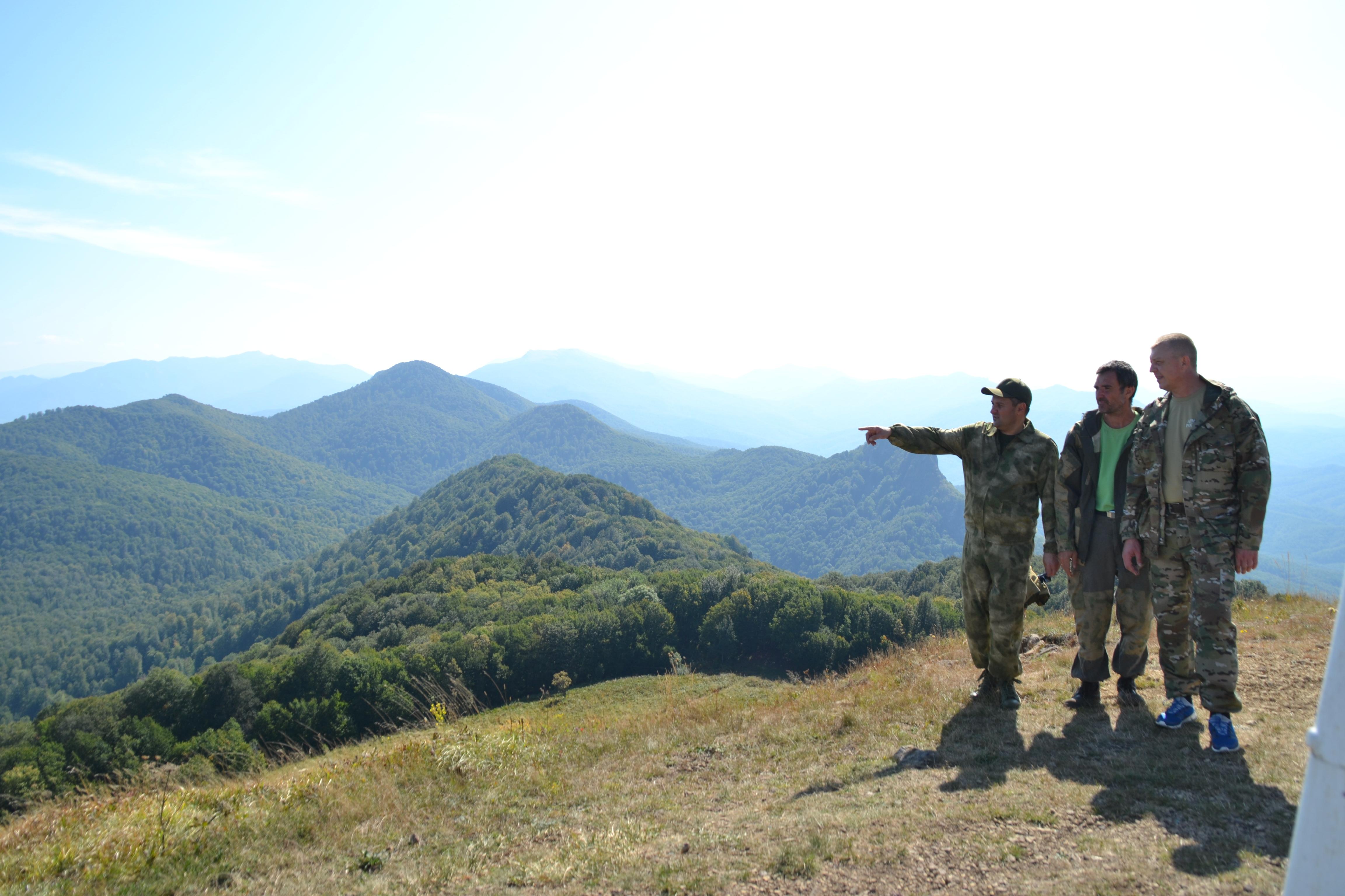 На высоте горы Семашхо