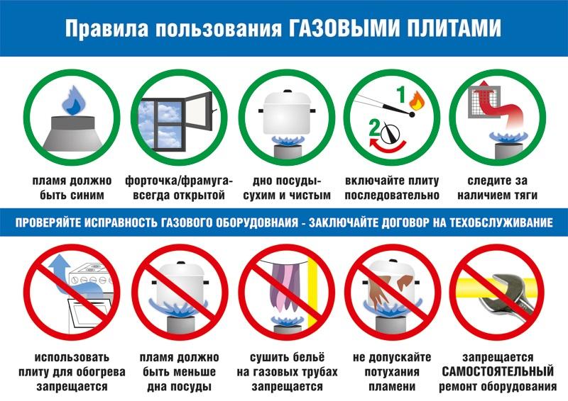 Соблюдайте правила эксплуатации газовых бытовых приборов