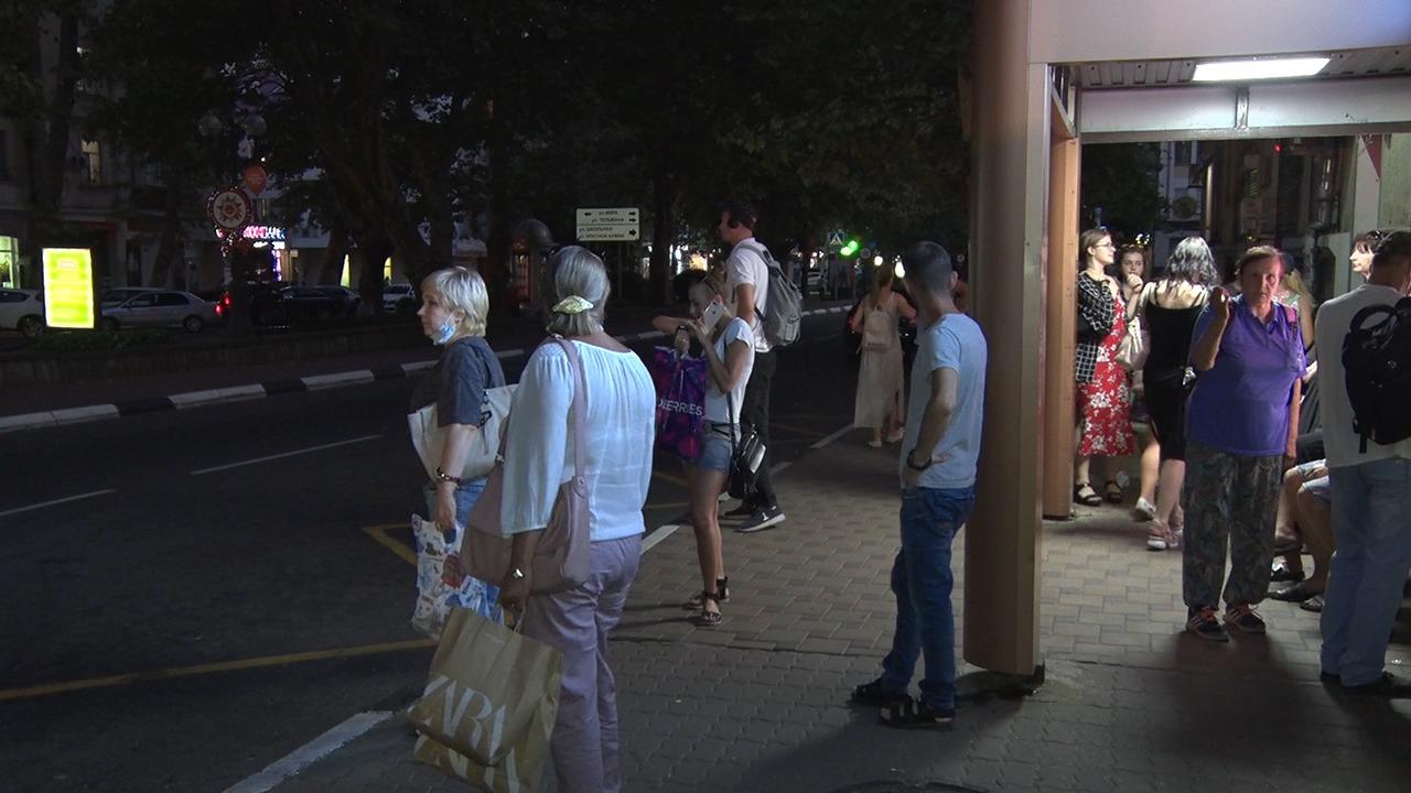 Контроль движения общественного транспорта в вечернее время