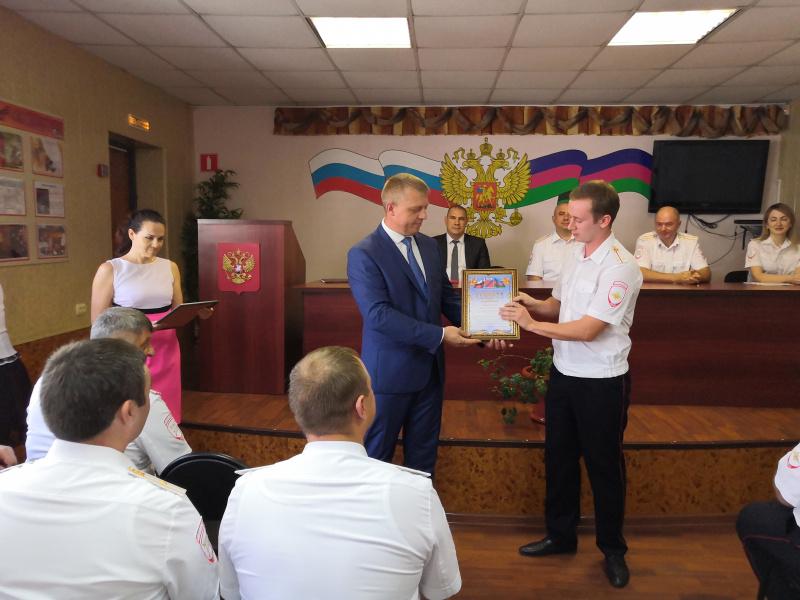 Сергей Бондаренко поздравил с профессиональным праздником личный состав ОГИБДД ОМВД по Туапсинскому району