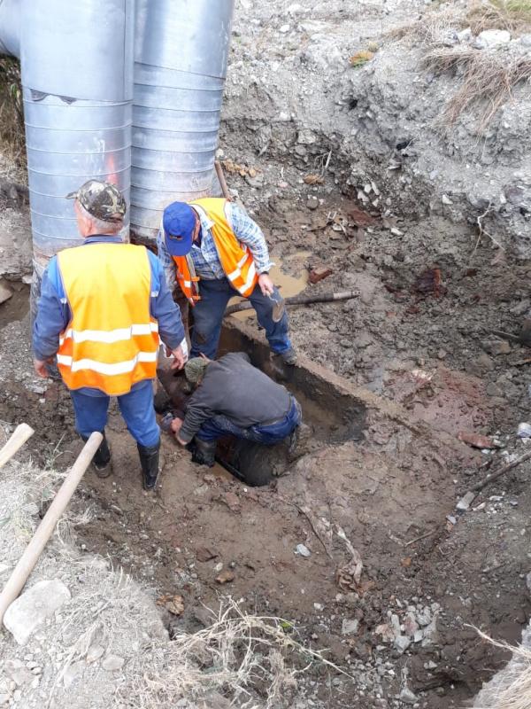 Ведутся восстановительные работы на теплотрассе