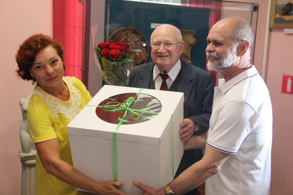 Открытие выставки Е.В.Марусина