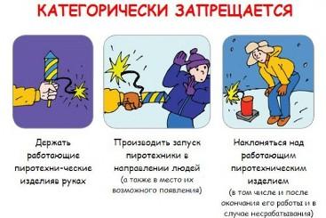 Меры безопасного обращения с пиротехникой