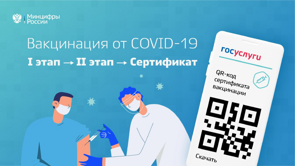 На портале Госуслуг автоматизирован процесс получения сертификата от COVID-19