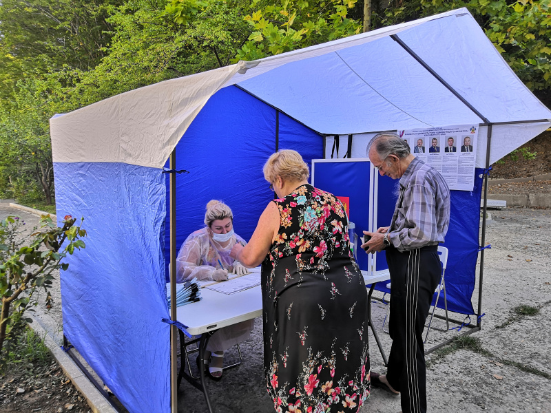 В Туапсе проходит второй день досрочного голосования