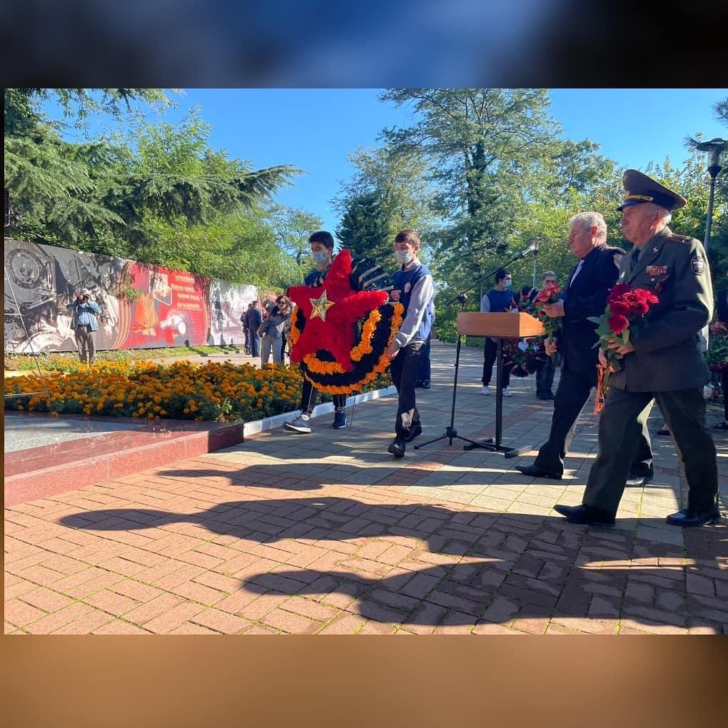 Митинг, посвященный 79-летию начала Туапсинской оборонительной операции.
