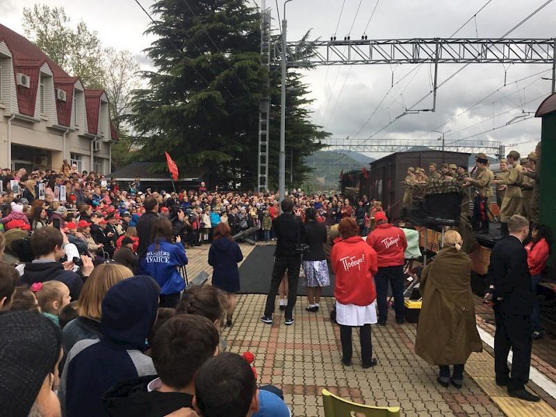 Ретропоезд прибудет в Туапсе в рамках акции «Эшелон Победы»