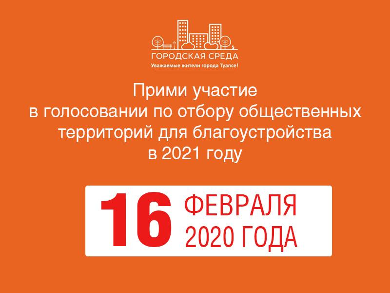 16 февраля - голосование по отбору общественных территорий для благоустройства в 2021 году
